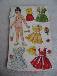 Påklædningsdukke på ark fra OTA - Lis