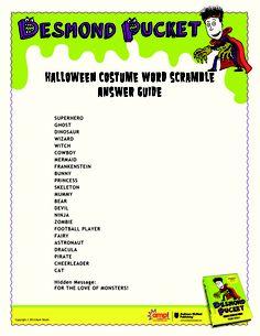 desmond pucket halloween costume scramble costumes