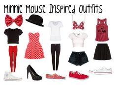 """minnie mouse inspired outfits"" by ashley2017 ❤ liked on Polyvore featuring Converse, Mandi, River Island, Keds, Dr. Denim, Michael Antonio, Pull&Bear, Kin by John Lewis, claire's and Jane Norman"