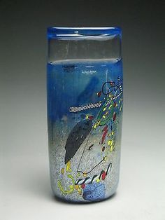 Excellent Kosta Boda Swedish Bertil Vallien Art Glass Vase