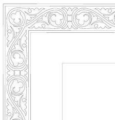 ornament pentru bolus – Deanna M. Border Pattern, Border Design, Picture Borders, Paint Icon, Ornament Drawing, Wood Burning Patterns, Byzantine Icons, Carving Designs, Borders And Frames