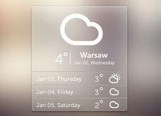 PSD Freebie: Free PSD weather widget