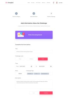 Challanges Step Website on Behance Dashboard Interface, Dashboard Design, User Interface Design, Webpage Layout, Web Layout, Landing Page Inspiration, Web Inspiration, Form Design, Ui Design