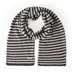 Park Cashmere & Wool Blend Knitted Scarf Grey