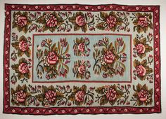 Antique Bessaravian kilim rug from Romania  by SOrugsandtextiles