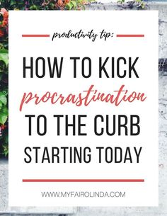 Procrastination is a productivity killer. We�ve all fallen into it, but what happens when you are stuck in that cycle of procrastination? We all want to get things done, it�s the getting there that can be difficult. Procrastination is the archenemy of pro