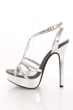 Silver High Heels For Prom Cheap