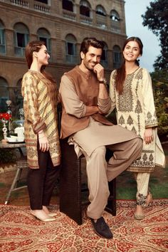 Lovely Aiman Khan, Shahzad Noor and Faiza Ashfaq Shoot Eid Collection 17! Umair Bin Nasir has done a great job at showing the true brilliance of this collection! ❤ #AimanKhan #Shahzad_Noor #FaizaAshfaq #Edenrobe #EidCollection17 #SummerCasual #PakistaniFashion #PakistaniCelebrities  ✨