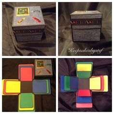 Explosion Box Keepsake Album - School Days by Keepsakesbystef on Etsy Online Gift Shop, Online Gifts, Explosion Box, Unique Gifts, Handmade Gifts, Diy Box, Memory Books, School Days, Mini Albums