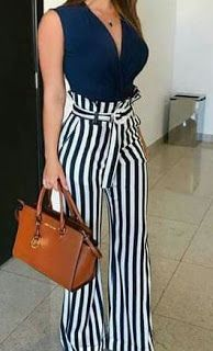 Style Spacez: 35 Cheap Palazzo Pants Outfit You Must Try Palazzo Pants Outfit, High Waisted Palazzo Pants, Pantalones Palazzo Casual, Tops For Palazzo Pants, Fall Outfits, Casual Outfits, Cute Outfits, Fashion Outfits, Summer Outfits