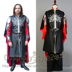 Lord of the Rings Hobbit King Aragorn II Elessar COSplay Costume Outfit Suit Set