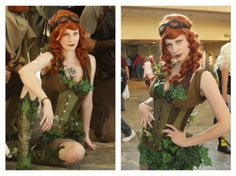 Orla Rose as Steampunk Poison Ivy - costume made by Orla Rose (Timeless Trends Corset) - http://orlarose.deviantart.com/