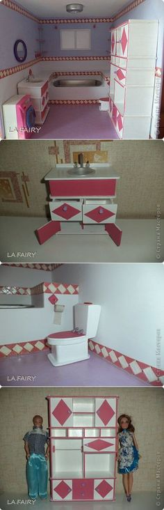 Мебель для ванны кукол своими руками