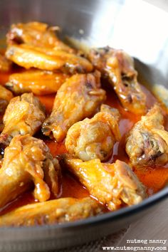 Baked Garlic Buffalo Chicken Wings