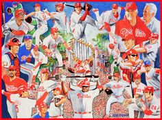 STAN KOTZEN - PHILADELPHIA PHILLIES Philadelphia Phillies, Sports Art, Memories, Painting, Souvenirs, Painting Art, Paintings, Paint, Draw