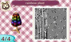Bidoof Crossing - littlestspider: rainbow plaid shirt! because I...