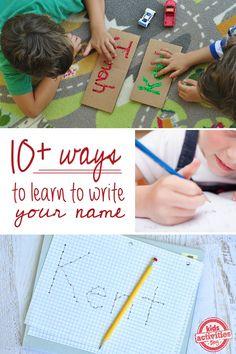 10 maneiras de aprender a escrever o seu nome