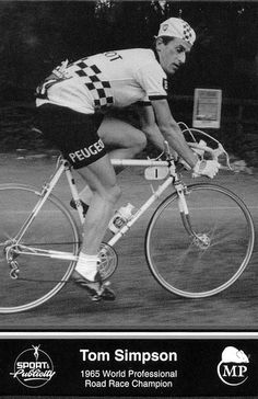 Tom Simpson racing in London-Holyhead cycle race by Paris-Roubaix, via Flickr