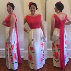 Retro Rack: Sumage Solution Book Launch Outfit: Pink 1960s Maxi Dress