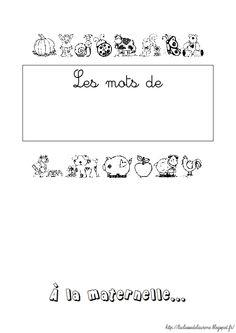 La classe de Laurène: Langage à la maternelle - Le cahier de Vocabulaire