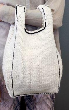 Hand Knitting, Knitting Patterns, Knitting Ideas, Knit Fashion, Fashion Wear, Knitting Accessories, Bead Crochet, Knitted Bags, Handmade Bags