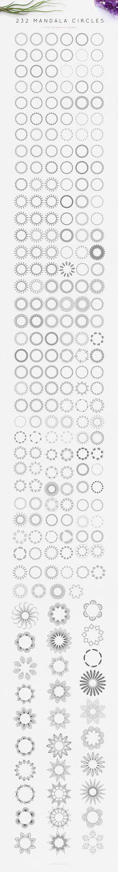 Mandala Logo Creator ♦ INTRO:30% OFF by Mindful Pixels on Creative Market