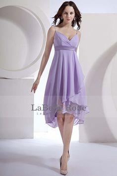 2013 Robes de mariée Empire pourpre taille bretelles spaghetti genou longueur chiffon