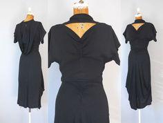 1940s Rayon Dress / Look Beyond Dress / 40s