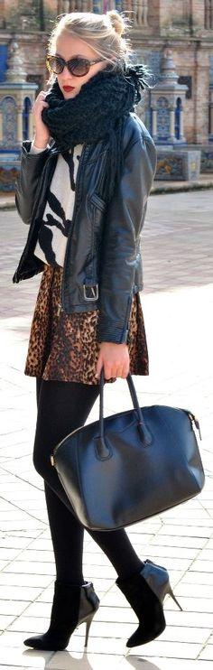 Fashionista: Jacket,gorgeous mini dress,sweater and nice scarf