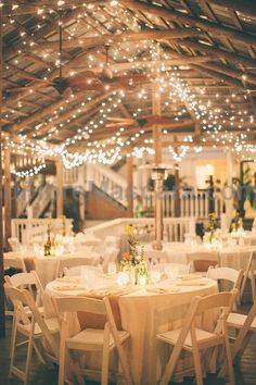 country wedding reception ideas- Burlap for the table runners and Xmas lights all over the pavilion - Deer Pearl Flowers #weddings #wedding #marriage #weddingdress #weddinggown #ballgowns #ladies #woman #women #beautifuldress #newlyweds #proposal #shopping #engagement
