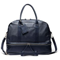 Sole Society Mason Vegan Travel Satchel ($80) ❤ liked on Polyvore featuring bags, luggage and indigo