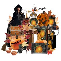 Come To My Halloween Party by karlajkitty on Polyvore featuring interior, interiors, interior design, home, home decor, interior decorating, Heritage Lace, Seletti, K&K Interiors and Crate and Barrel