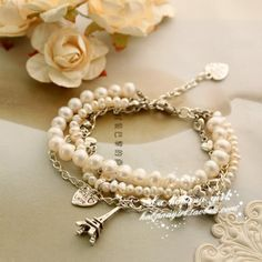 Handmade pearls bracelet by La habana girl