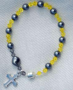 Swarovski Crystal and Pearl Rosary Bracelet