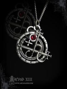 Handmade Sigil of Lilith pendant - $32.20