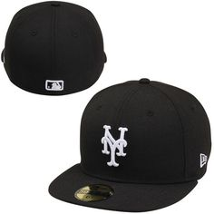 the latest d1d89 5e599 Men s New York Mets New Era Black League Basic 59FIFTY Fitted Hat,  34.99