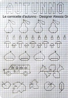 Kasuti Embroidery, Cross Stitch Embroidery, Cross Stitch Patterns, Graph Paper Drawings, Graph Paper Art, Baby Drawing, Drawing For Kids, Symmetry Worksheets, Middle School Art