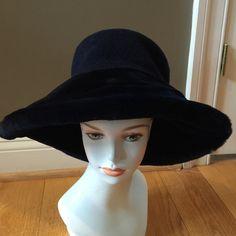 BEN THYLAN NEW YORK NAVY SHEARED BEAVER HAT W/WOOL GORGEOUS AUTH VTG BEN THYLAN SHEARED BEAVER NAVY AND WOOL HAT BEN THYLAN Accessories Hats