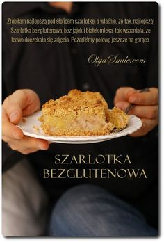 Szarlotka bezglutenowa Gluten Free Apple Pie, Gluten Free Cakes, Polish Recipes, Polish Food, Something Sweet, Vegan Vegetarian, Banana Bread, Dairy Free, Muffin