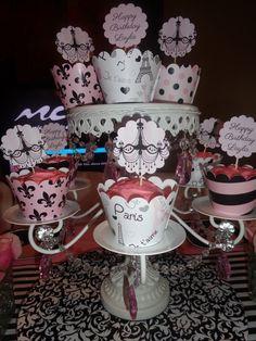Cupcakes at a Barbie Paris Party #barbie #paris