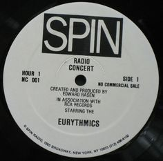 4531 - Eurythmics - Radio Concert Eurythmics - USA - Double Vinyl LP - NC001 - http://www.eurythmics-ultimate.com/4531-eurythmics-radio-concert-eurythmics-usa-double-vinyl-lp-nc001/