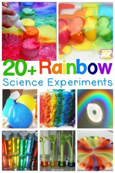 Rainbow Science Experiments for Bright, Happy Learning - - Love rainbows? You won't want to miss these amazing, happy rainbow science experiments for kids. So many ways to learn with rainbows! Kid Science, Science Activities For Kids, Kindergarten Science, Science Fair Projects, Projects For Kids, Preschool Activities, Crafts For Kids, Science Education, Summer Science