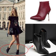 Find More Boots Information about 2014 Women pointed toe leather boots Female Rivet ankle boots heels fashion Ladies high heels boots Women Pumps autumn boots,High Quality Boots from Lori Fashion Shoes on Aliexpress.com