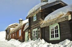 The timber houses look especially pretty under a blanket of snow (c) Finn Nilsen