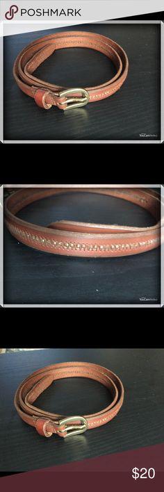 RALPH LAUREN skinny brown belt RALPH LAUREN skinny brown leather belt Ralph Lauren Accessories Belts