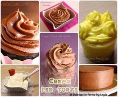 """Una raccolta speciale """"ricette creme per torte"""" con creme per farcire, creme per stuccare, creme per decorare, frosting, creme per cake design, creme golose"""