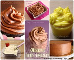 Ricette creme per torte, raccolta di Dulcisss in forno