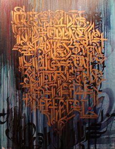 Que ce soit une cause ou un effet, Mixed media Canvas - Vincent Abadie Hafez Aka Zepha
