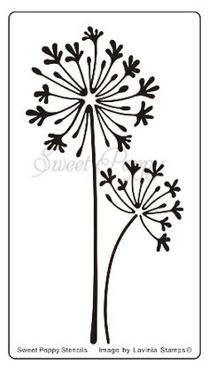 Agapanthus Sweet Poppy Stencil is a gorgeous agapanthus flower bold image ideal for using with inks or with texture pastes