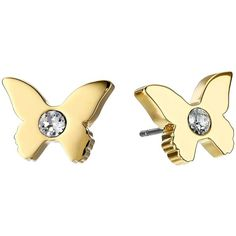 Kate Spade New York Dainty Sparklers Butterfly Studs Earrings ($48) ❤ liked on Polyvore featuring jewelry, earrings, accessories, clear, monarch butterfly jewelry, polish jewelry, clear jewelry, clear crystal earrings and kate spade